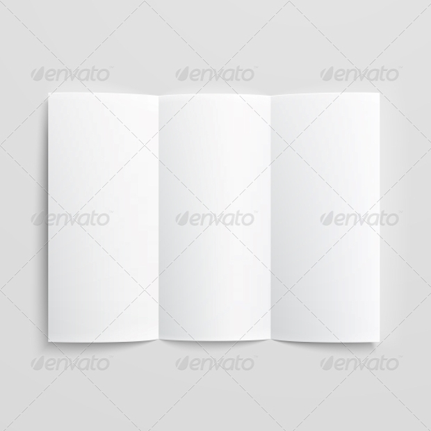 Trifold Blank Paper Brochure