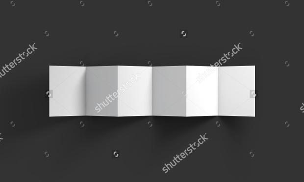 Zig Zag Folded Blank Brochure