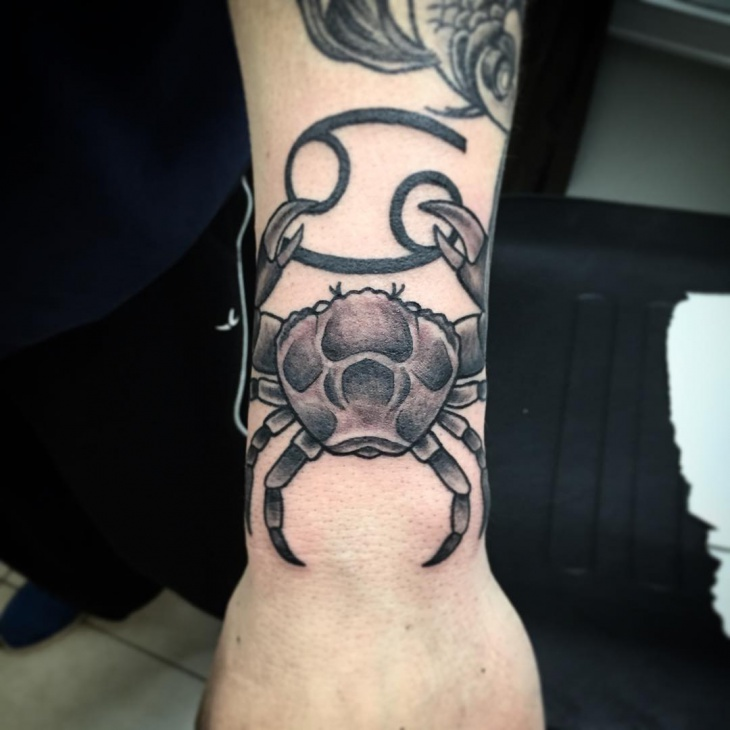 Black Zodiac Tattoo