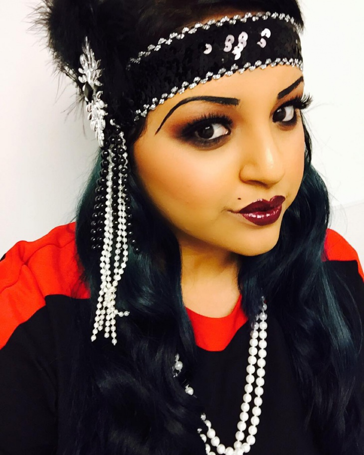 Cute Flapper Makeup Design