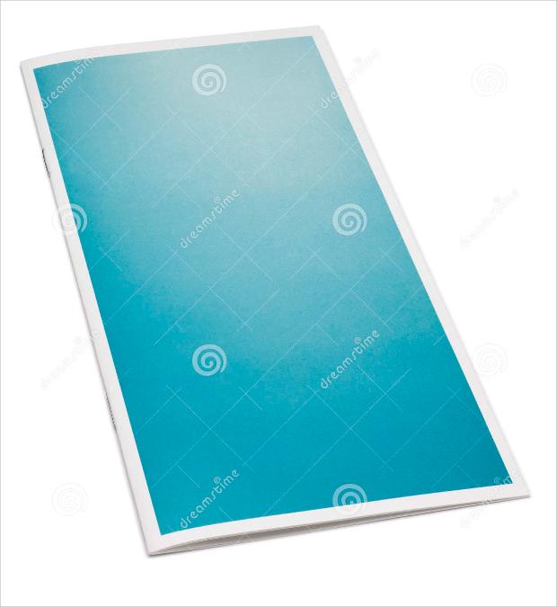 Blue Blank Brochure Template