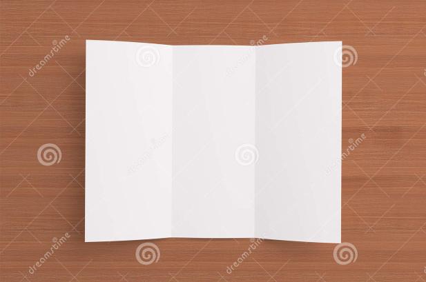 Blank Tri fold Paper Brochure