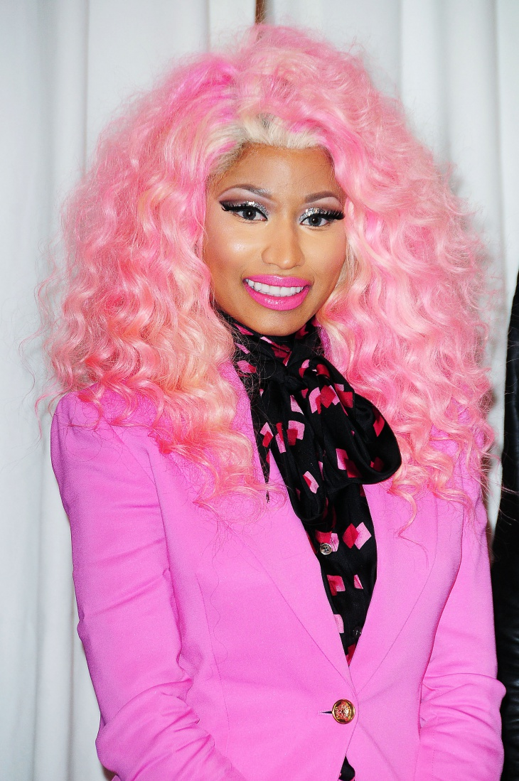nicki minaj with pink makeup idea