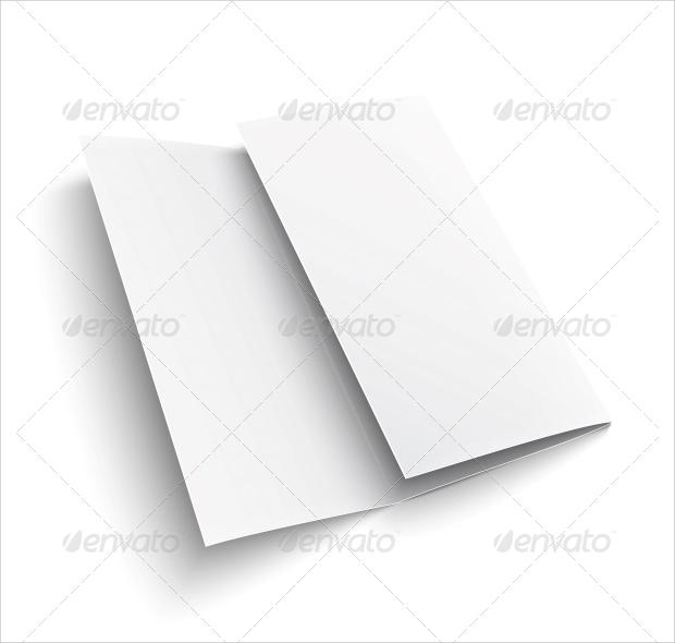 Empty Half Folded Paper Brochure
