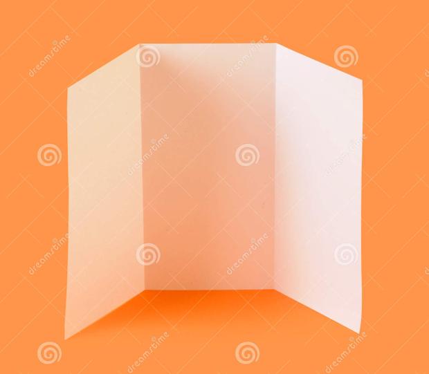 High Resolution Blank Brochure