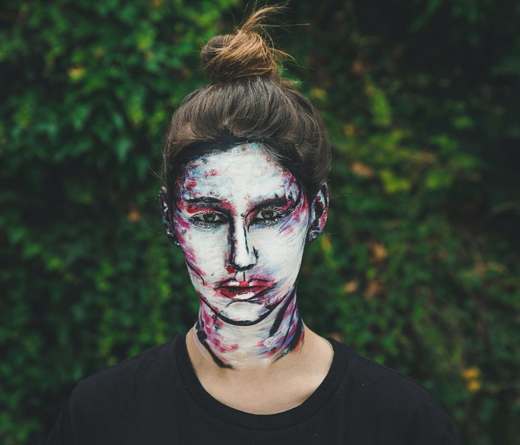 oil paint makeup idea