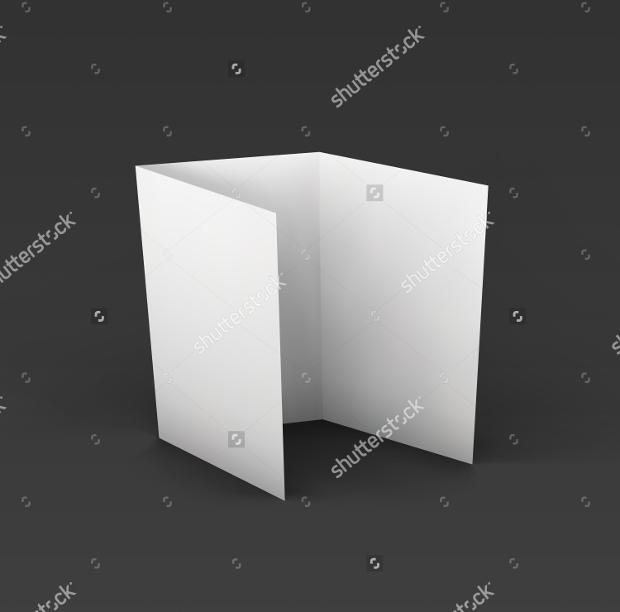 Blank PSD Paper Brochure