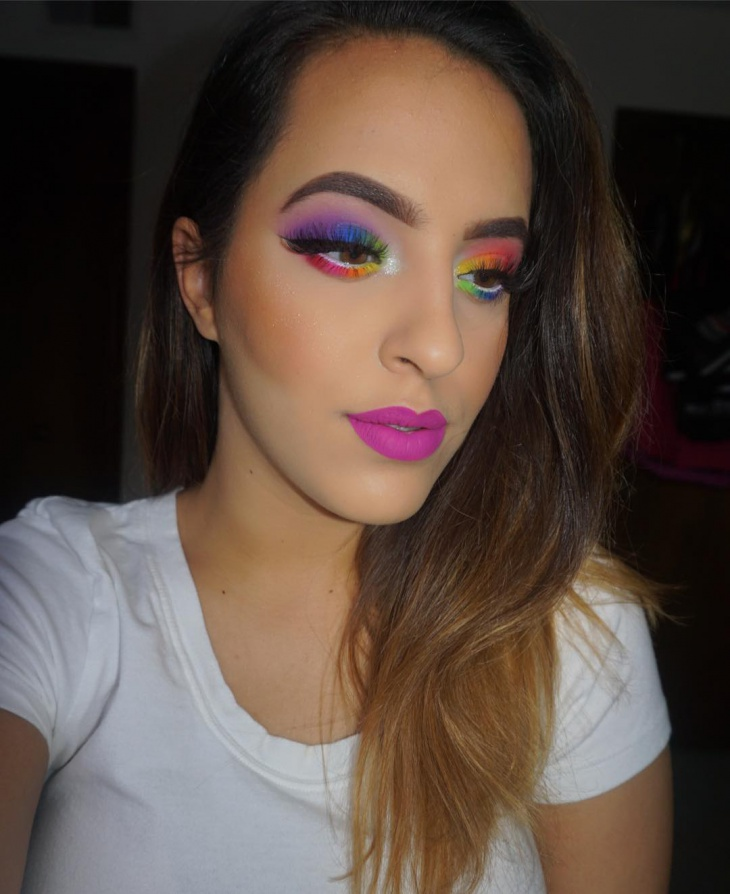 crazy rainbow makeup