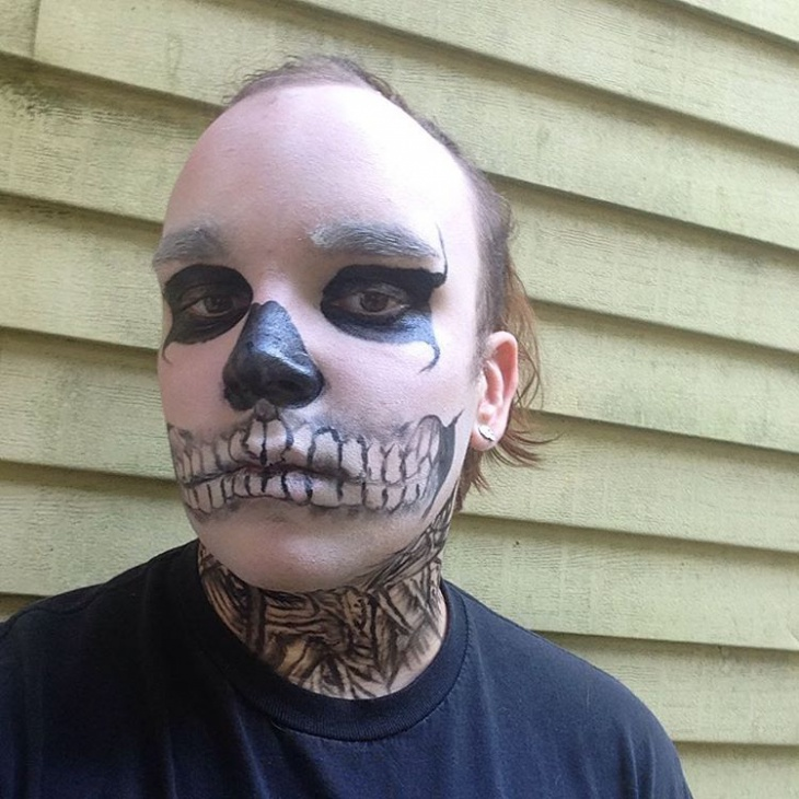 scary makeup for men