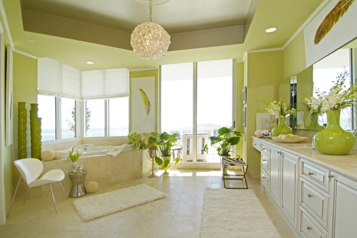 lime green bathroom decor1