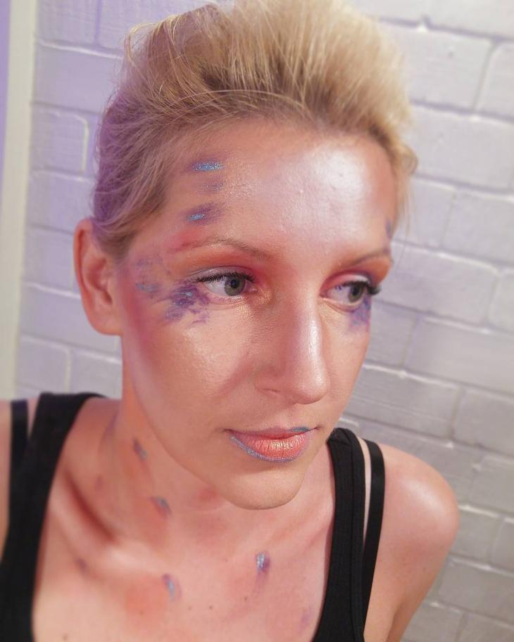Fantasy Glitter Makeup