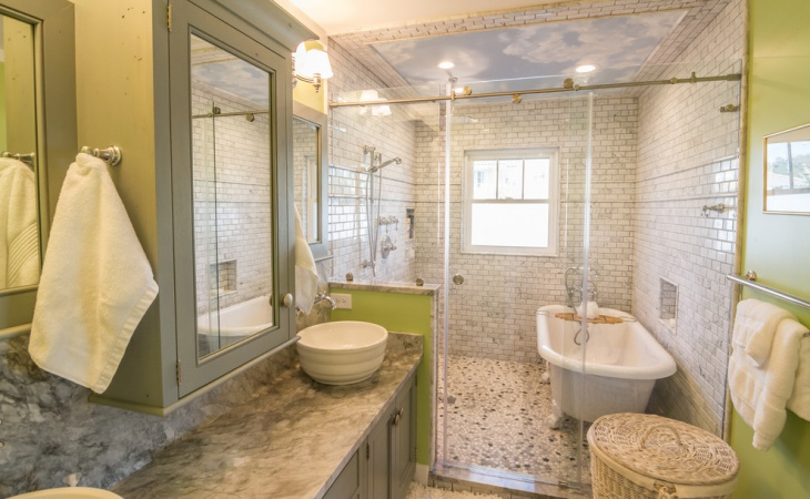 lime green and gray bathroom2
