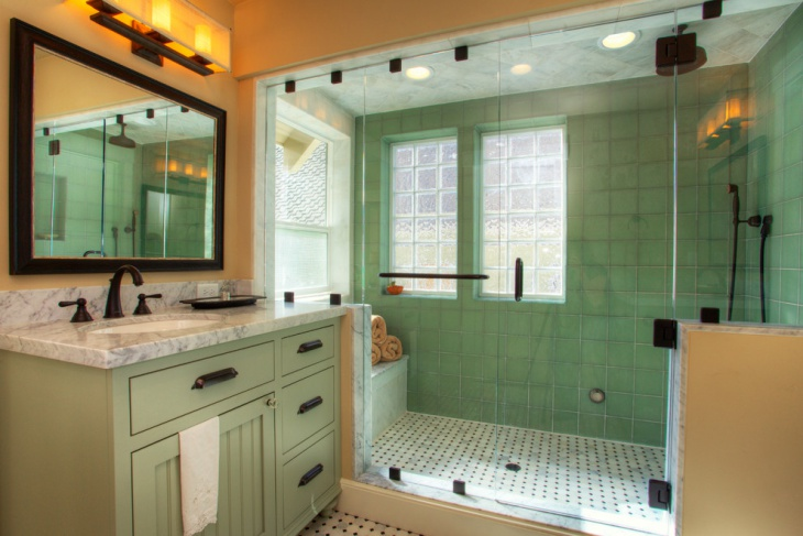 Black and Green Bathroom Accessories