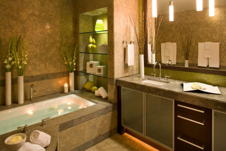 20 lime green bathroom designs ideas design trends for Bathroom spa designs