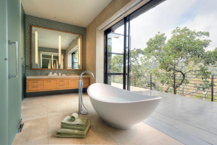 best green bathroom for outdoor look