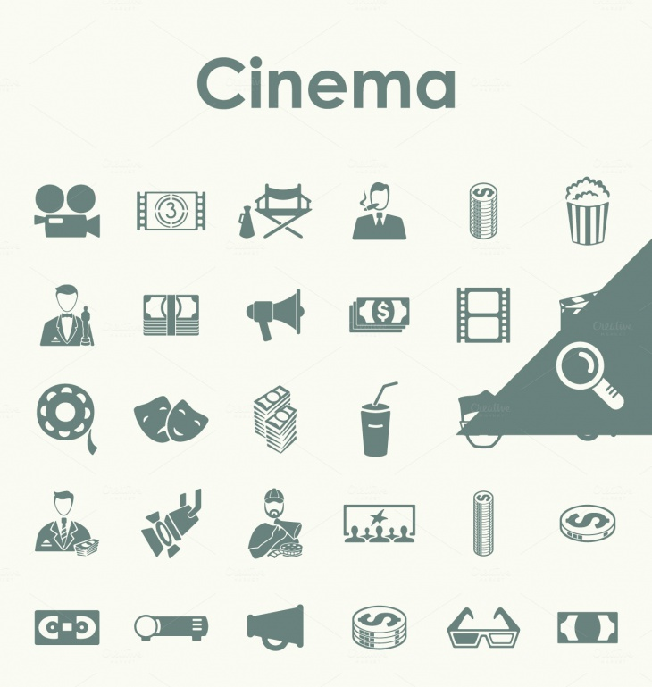 simple cinema icon set1