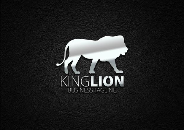 animal king lion logo design