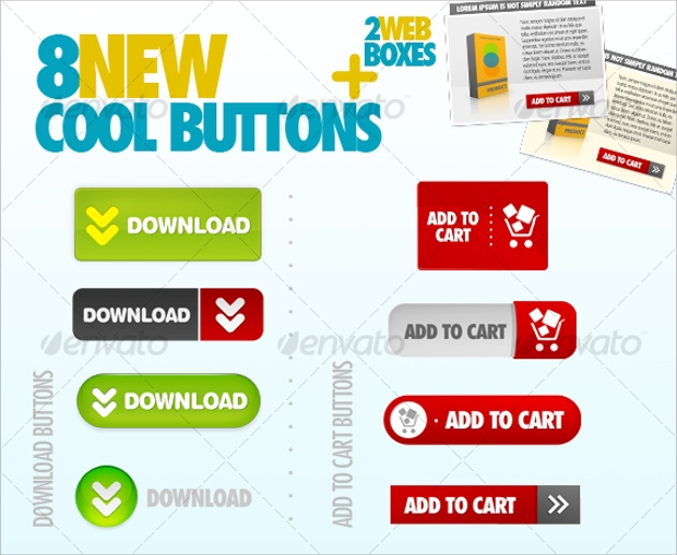 Cool Add to Cart Web Buttons