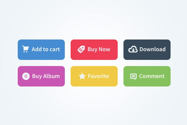 different colored add to cart buttons