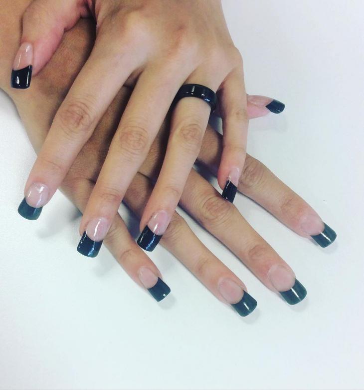 Tuxedo Tip Nail Art