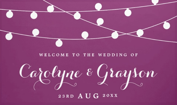colorful wedding banner