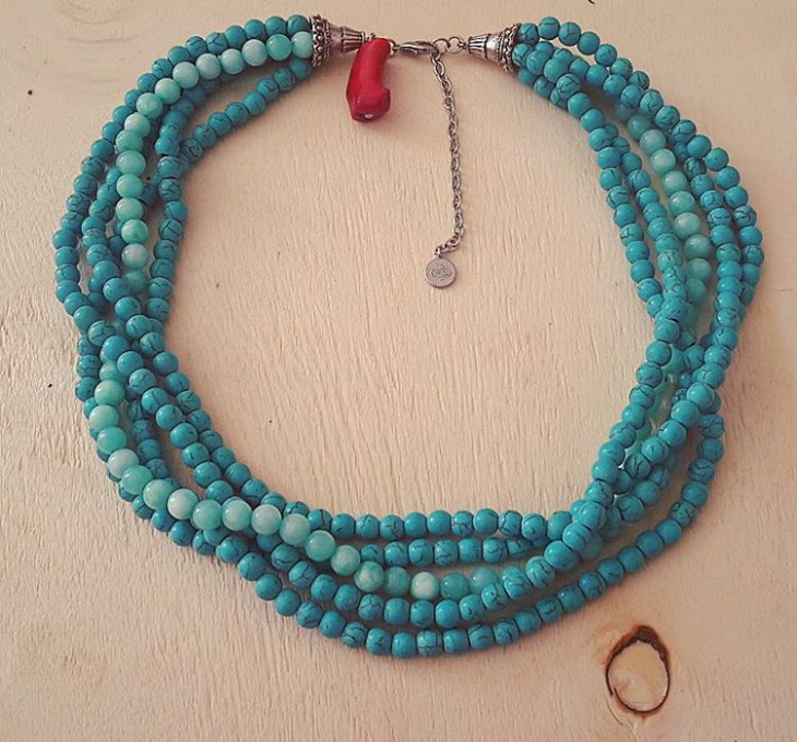 Blue Color Turquoise Necklace