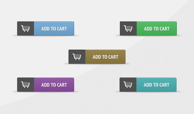Add To Cart PSD Buttons