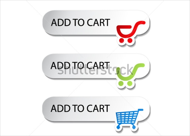 Vector Shopping Cart Buttons