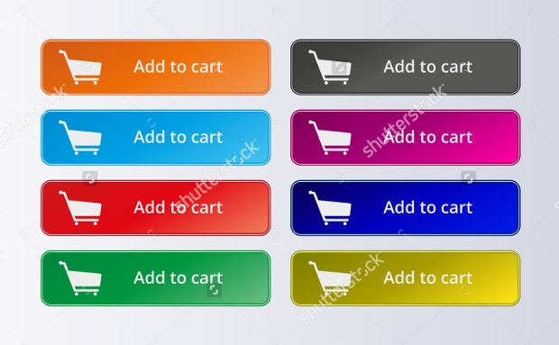 Set of Commerce Colorful Buttons