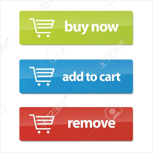set of modern ecommerce buttons