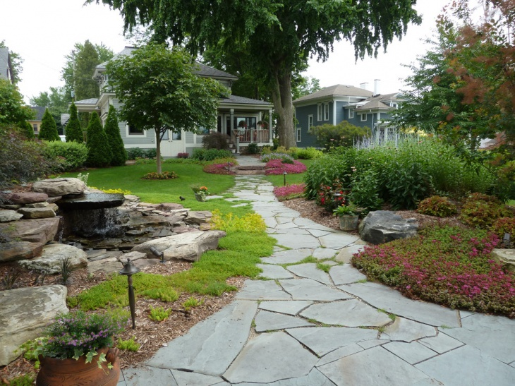 vintage hill based landscape design