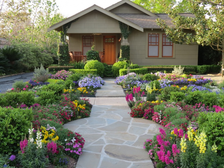 entry flower landscape idea