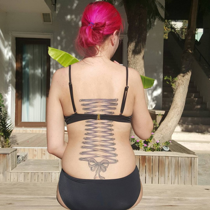 Corset Back Tattoo for Women