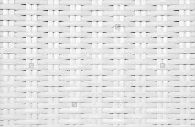 White Wicker Texture Design