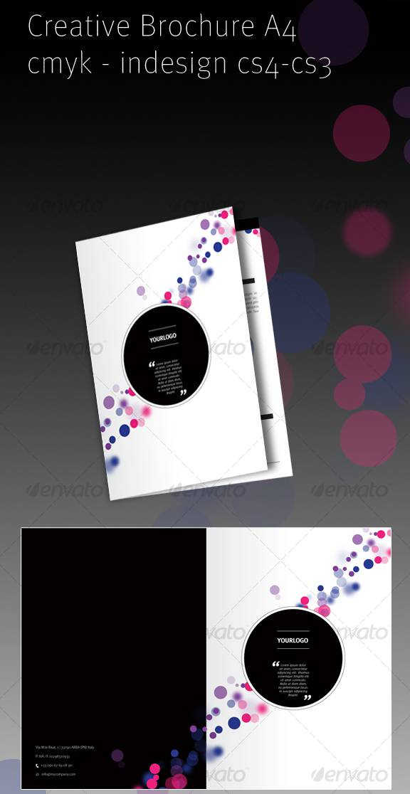 Colorful A4 Brochure Design