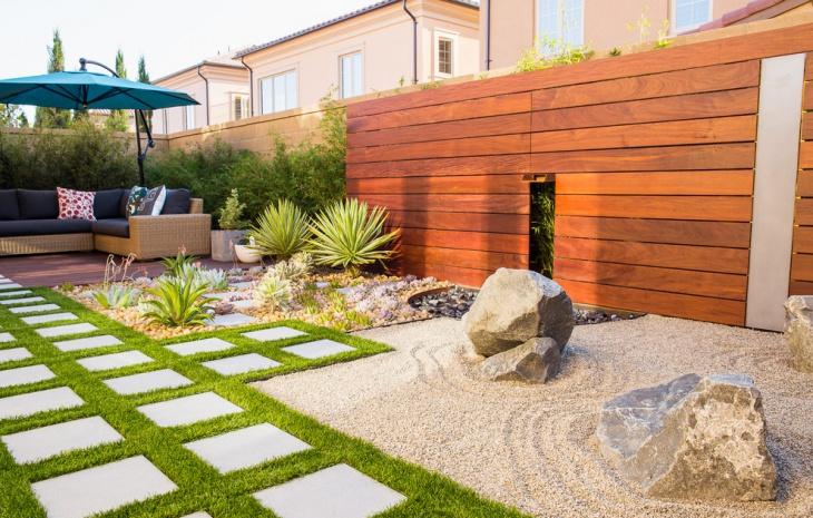 english modern garden design