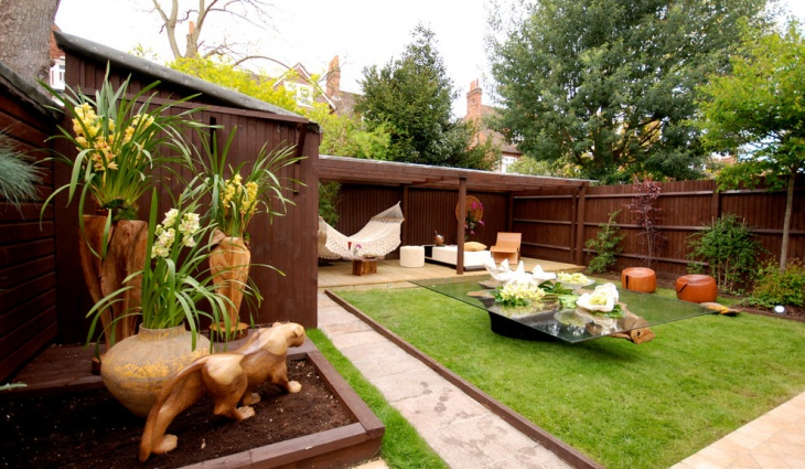 simple modern garden