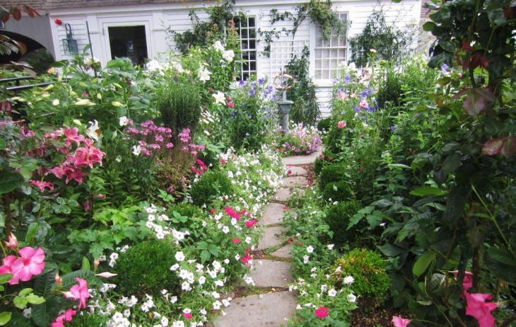 english floral landscape garden