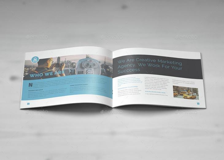 modern landscape brochure