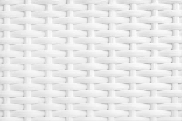 White Wicker Weave Texture
