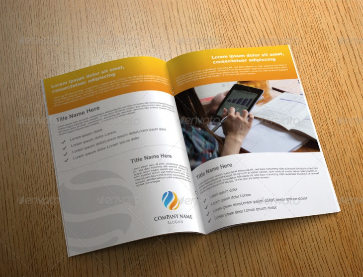 Creative Bi Fold Brochure Template Design