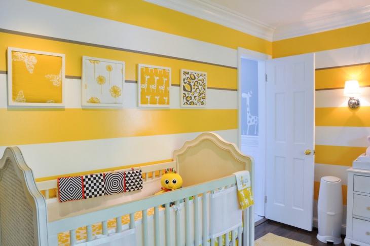 yellow fabric wall art