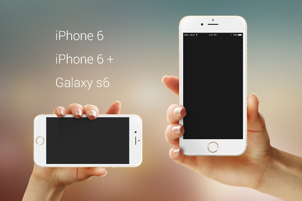 iphone 6 plus android psd mockup