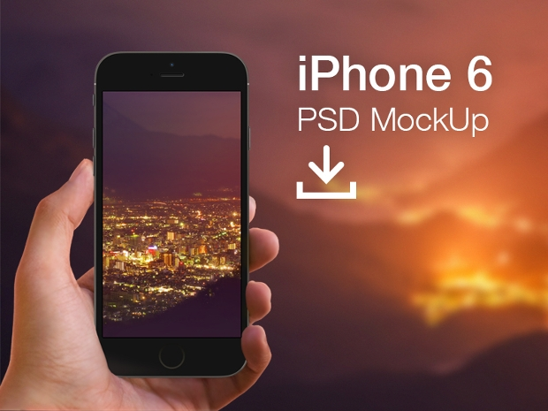 Free Iphone 6 Mockup Template