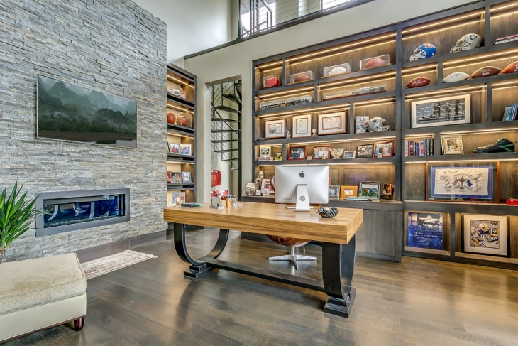modern home office renovation