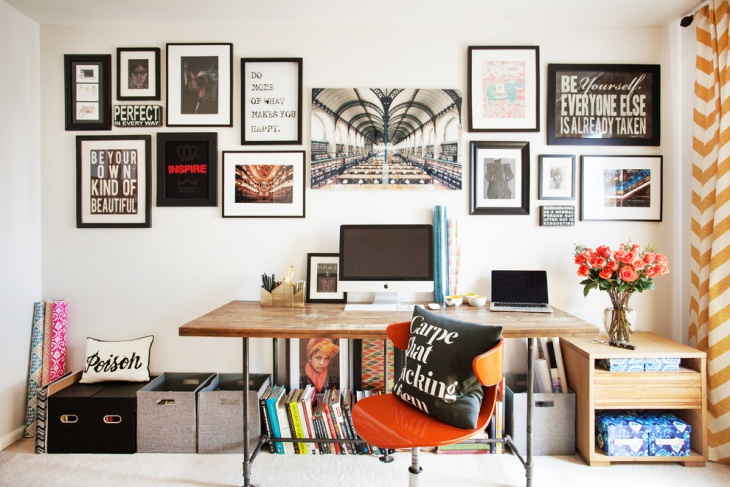 home office art gallery