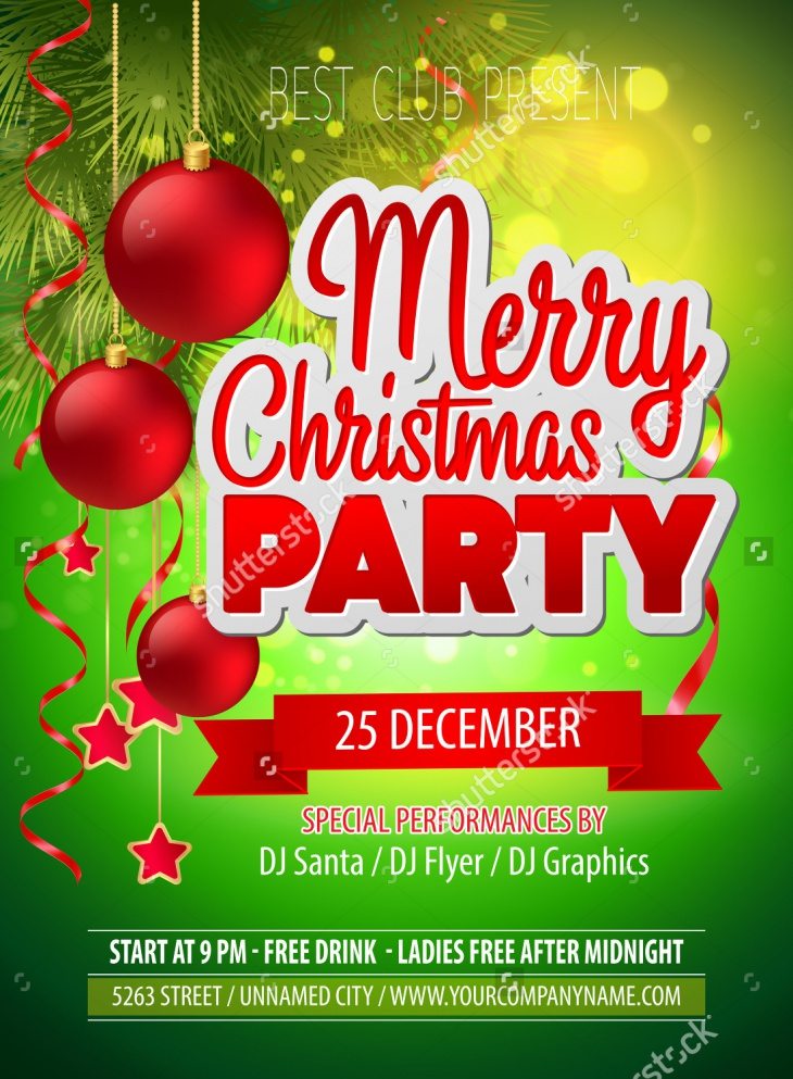Christmas Party Flyer Design Idea