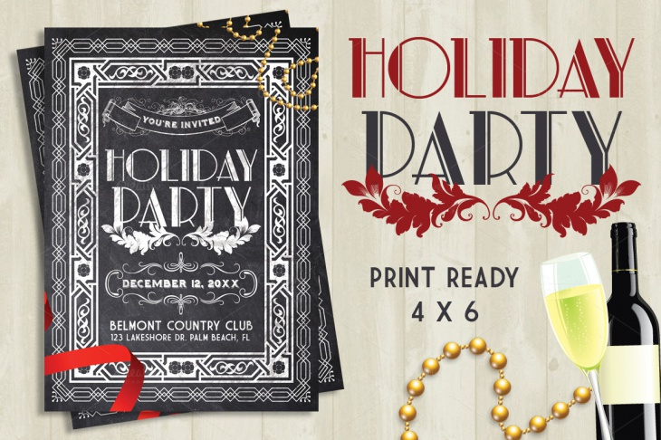 20+ Holiday Party Flyer- Printable PSD, AI, Vector EPS Format ...
