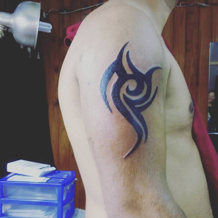 Tribal Spartan Tattoo Idea
