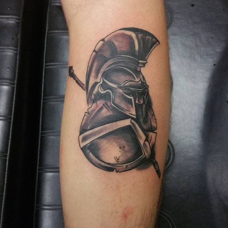 Awesome Spartan Tattoo Idea
